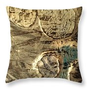My Textured Stones E Throw Pillow by Sonya Wilson