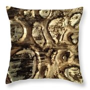 My Textured Stones F Throw Pillow by Sonya Wilson