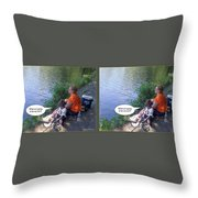 My Turn - Gently Cross Your Eyes And Focus On The Middle Image Throw Pillow