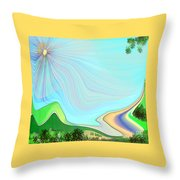 My Valley Home Throw Pillow