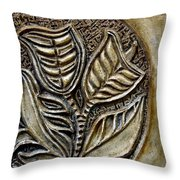 Vintaje Tile With Calas  Throw Pillow