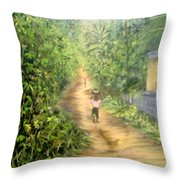 My Village Throw Pillow