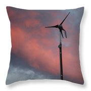 My Wind Turbine Throw Pillow