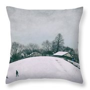 My Wintry Homey Snowy Planet Throw Pillow