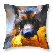 My Yellow Friend Throw Pillow