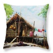 Myanmar Custom_016 Throw Pillow