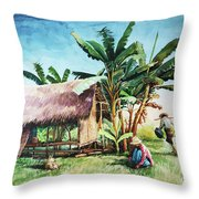 Myanmar Custom_09 Throw Pillow