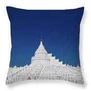Myanmar. Mingun. The Hsinbyume Pagoda. Throw Pillow