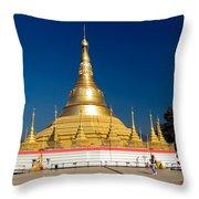 Myanmar Temple Throw Pillow