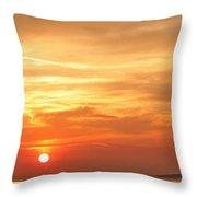 Mykonos Sunset Throw Pillow