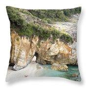 Mylopotamos Beach, Pelion, Greece Throw Pillow