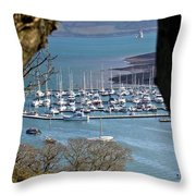 Mylor Marina Throw Pillow