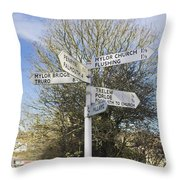Mylor Signpost Throw Pillow