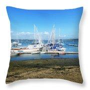Mylor Yacht Pontoon Throw Pillow