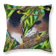 Mynah Birds #474 Throw Pillow