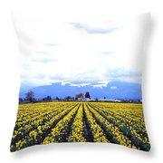Myriads Of Daffodils Throw Pillow