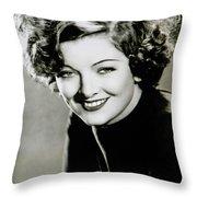 Myrna Loy Throw Pillow