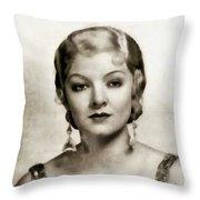 Myrna Loy, Vintage Actress Throw Pillow