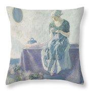 Myron G. Barlow 1873 - 1937 Peasant Sewing Throw Pillow