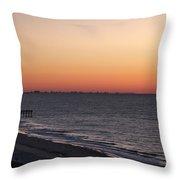 Myrtle Beach Pier Throw Pillow