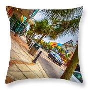 Myrtle Beach Shopping Throw Pillow