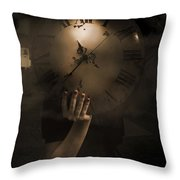 Mysteries Of Time Throw Pillow