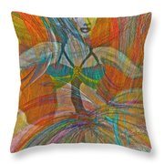 Mysterious Dancer Throw Pillow