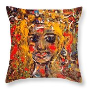 Mysterious Eyes Throw Pillow