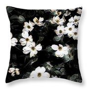 Mysterious Floral Throw Pillow