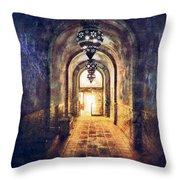Mysterious Hallway Throw Pillow