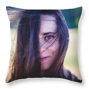 Mysterious Look Throw Pillow