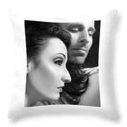 Mysterious Love  Throw Pillow
