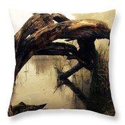 Mysterious Marsh Throw Pillow