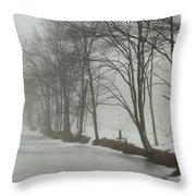 Mysterious Winter  Throw Pillow