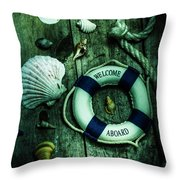 Mystery Aboard The Sunken Cruise Line Throw Pillow