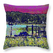 Mystery Bay At Sunset Throw Pillow