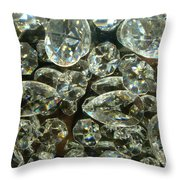 Mystery Crystal Throw Pillow