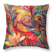Mystery Of Blue Pigeons Throw Pillow