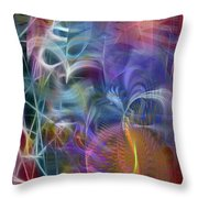 Mystery Of Light Throw Pillow