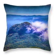 Mystery Of Looking Glass Rock Throw Pillow
