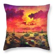 Mystery Of The Desert Throw Pillow