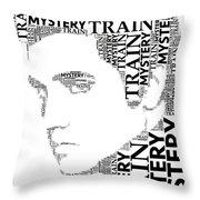 Mystery Train Elvis Wordart Throw Pillow