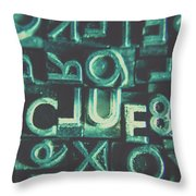 Mystery Writer Clue Throw Pillow