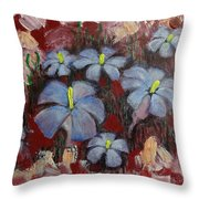 Mystic Bloom Throw Pillow