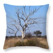 Mystic Buishveld Tree Throw Pillow