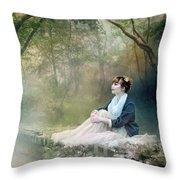 Mystic Contemplation Throw Pillow
