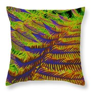 Mystic Fern Throw Pillow
