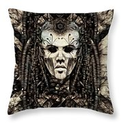 Mystic Future And Past - Ion Prophecies - Monotone  Throw Pillow