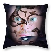 Mystic Gaze Throw Pillow
