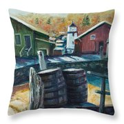Mystic Harbor Throw Pillow